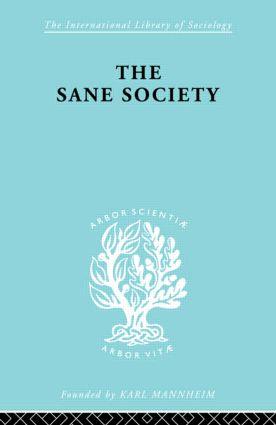 Sane Society Ils 252: 1st Edition (Hardback) book cover