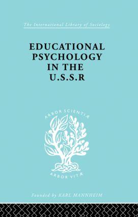 Educatnl Psychol Ussr Ils 268: 1st Edition (Hardback) book cover