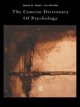 The Concise Dictionary of Psychology: 3rd Edition (Paperback) book cover
