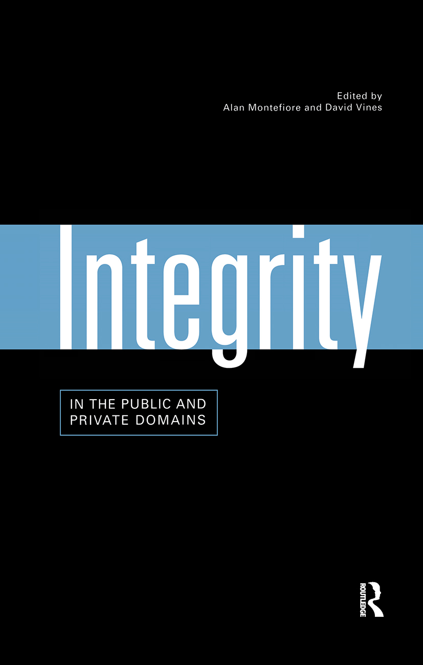 Integrity in the Public and Private Domains (Hardback) book cover