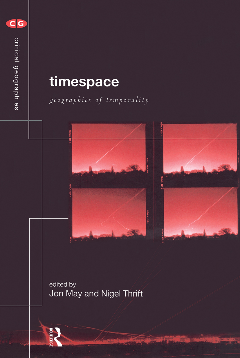 Timespace: Geographies of Temporality (Paperback) book cover
