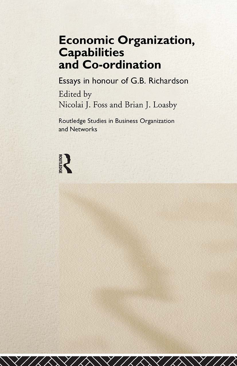 Economic Organization, Capabilities and Coordination (Hardback) book cover