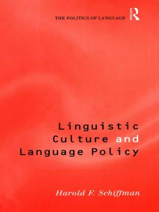 Linguistic Culture and Language Policy (Paperback) book cover