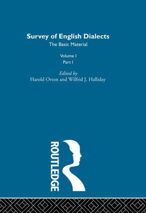 Survey Eng Dialects Vol1 Prt1: 1st Edition (Hardback) book cover