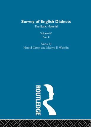 Survey Eng Dialects Vol4 Prt2: 1st Edition (Hardback) book cover