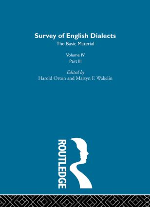 Survey Eng Dialects Vol4 Prt3 (Hardback) book cover
