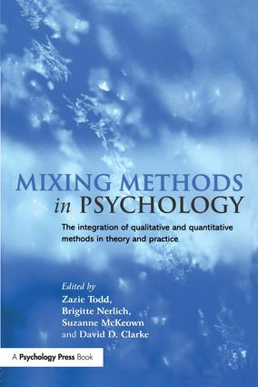 Mixing Methods in Psychology: The Integration of Qualitative and Quantitative Methods in Theory and Practice (Paperback) book cover