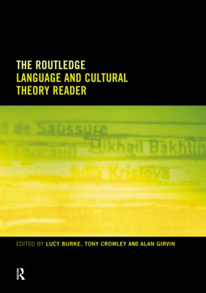The Routledge Language and Cultural Theory Reader: 1st Edition (Paperback) book cover