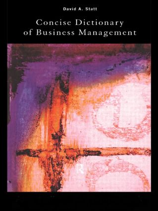 The Concise Dictionary of Business Management (Paperback) book cover