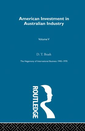 American Invest Australn Indus (Hardback) book cover