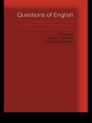 Questions of English: Aesthetics, Democracy and the Formation of Subject, 1st Edition (Paperback) book cover
