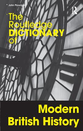 The Routledge Dictionary of Modern British History book cover