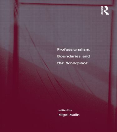 Professionalism, Boundaries and the Workplace (Paperback) book cover