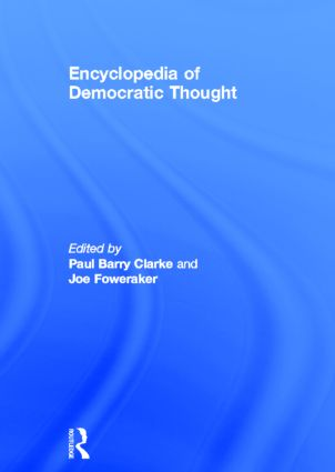 Encyclopedia of Democratic Thought: 1st Edition (Hardback) book cover