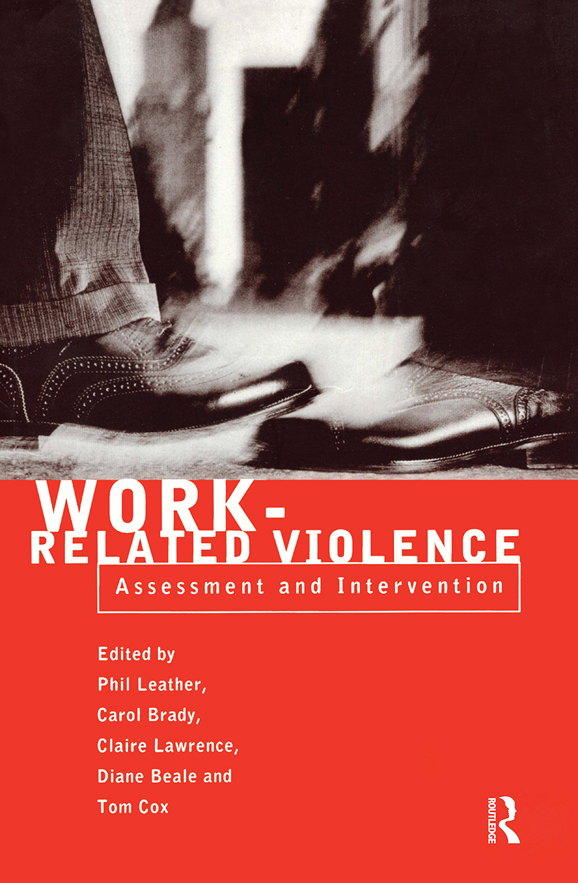 Work-Related Violence: 1st Edition (Paperback) book cover