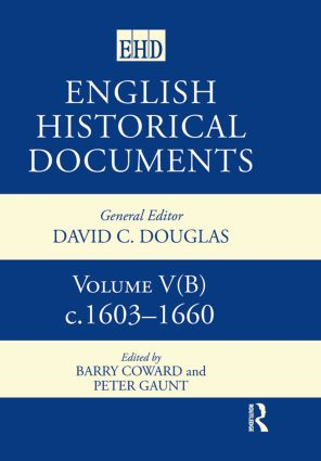 English Historical Documents, 1603–1660 (Hardback) book cover