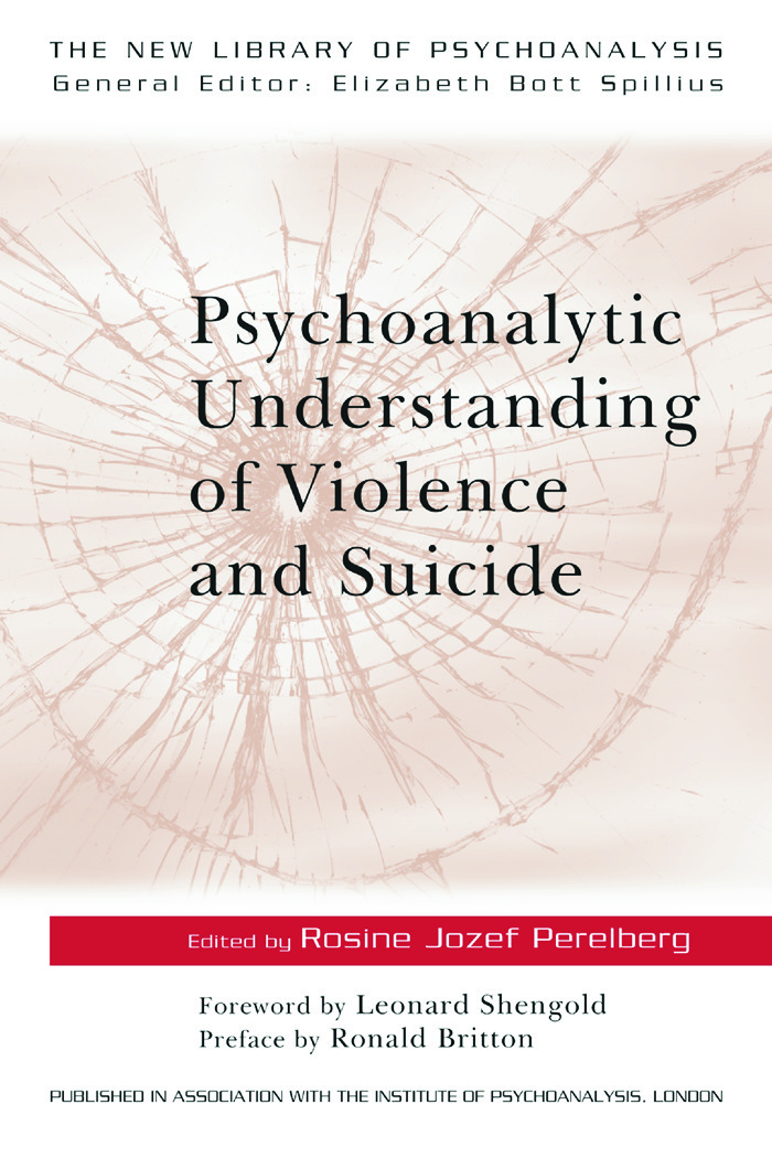Psychoanalytic Understanding of Violence and Suicide: 1st Edition (Paperback) book cover