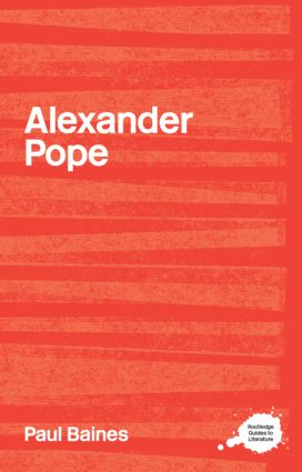Alexander Pope: 1st Edition (Paperback) book cover