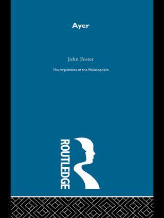 Ayer-Arg Philosophers (Hardback) book cover