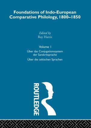 Uber Das Conjugatn Sanskrit V1 (Hardback) book cover