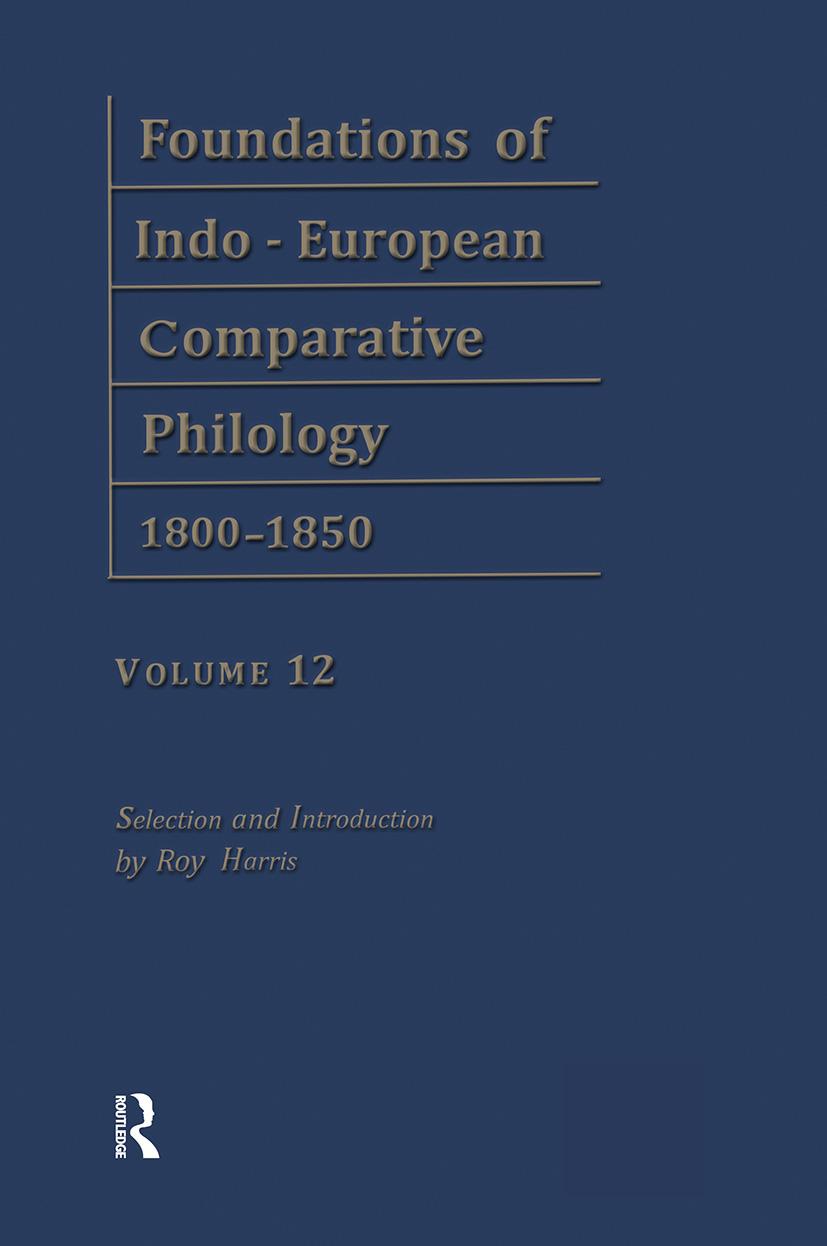 Etymol Forschungen V1 V12: 1st Edition (Hardback) book cover