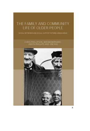 Family and Community Life of Older People: Social Networks and Social Support in Three Urban Areas, 1st Edition (Paperback) book cover
