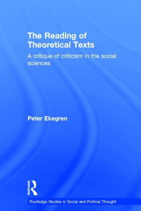 The Reading of Theoretical Texts (Hardback) book cover