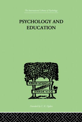 Psychology And Education: 1st Edition (Hardback) book cover