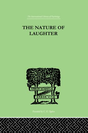 The Nature Of Laughter: 1st Edition (Hardback) book cover