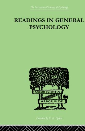 Readings In General Psychology: 1st Edition (Hardback) book cover