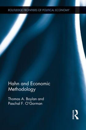 Hahn and Economic Methodology (Hardback) book cover