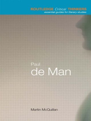 Paul de Man book cover