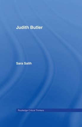 Judith Butler book cover