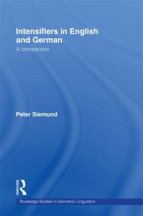 Intensifiers in English and German: A Comparison book cover