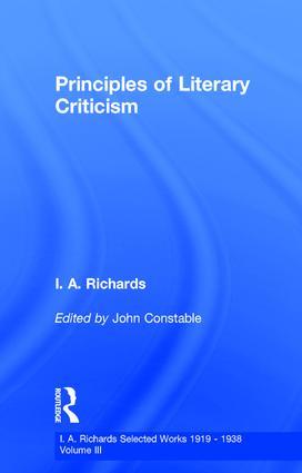 Princ Literary Criticism V3: 1st Edition (Hardback) book cover