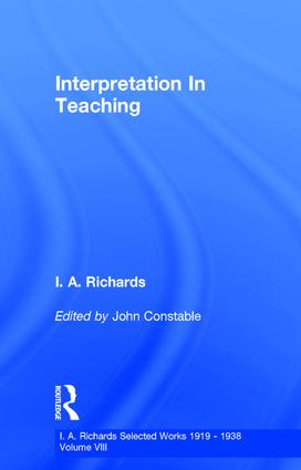 Interpretation In Teaching V 8 (Hardback) book cover