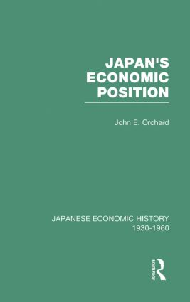 Japans Econ Position V 7 book cover