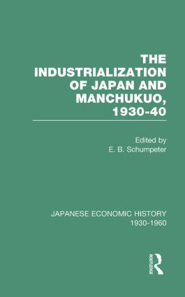 Indust Japan&Manchukuo V 8: 1st Edition (Hardback) book cover