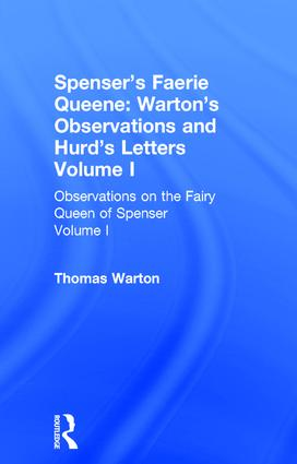 Observations On Fairy Queen V1: 1st Edition (Hardback) book cover