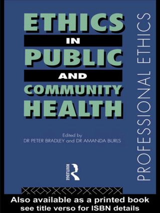 Ethics in Public and Community Health (Paperback) book cover