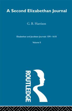 A Second Elizabethan Journl V2 (Hardback) book cover