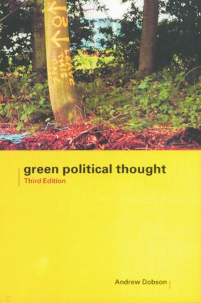 Green Political Thought: 3rd Edition (Hardback) book cover