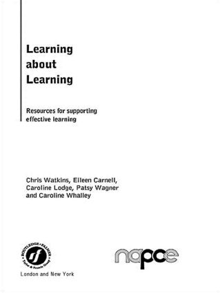 Learning about Learning: Resources for Supporting Effective Learning (Paperback) book cover