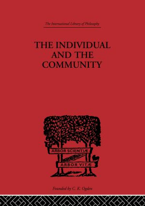 The Individual and the Community