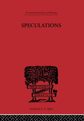 Speculations: Essays on Humanism and the Philosophy of Art, 1st Edition (Hardback) book cover