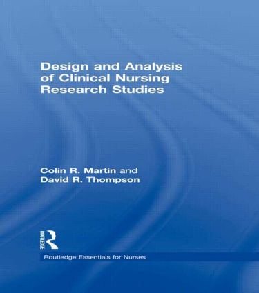 Design and Analysis of Clinical Nursing Research Studies