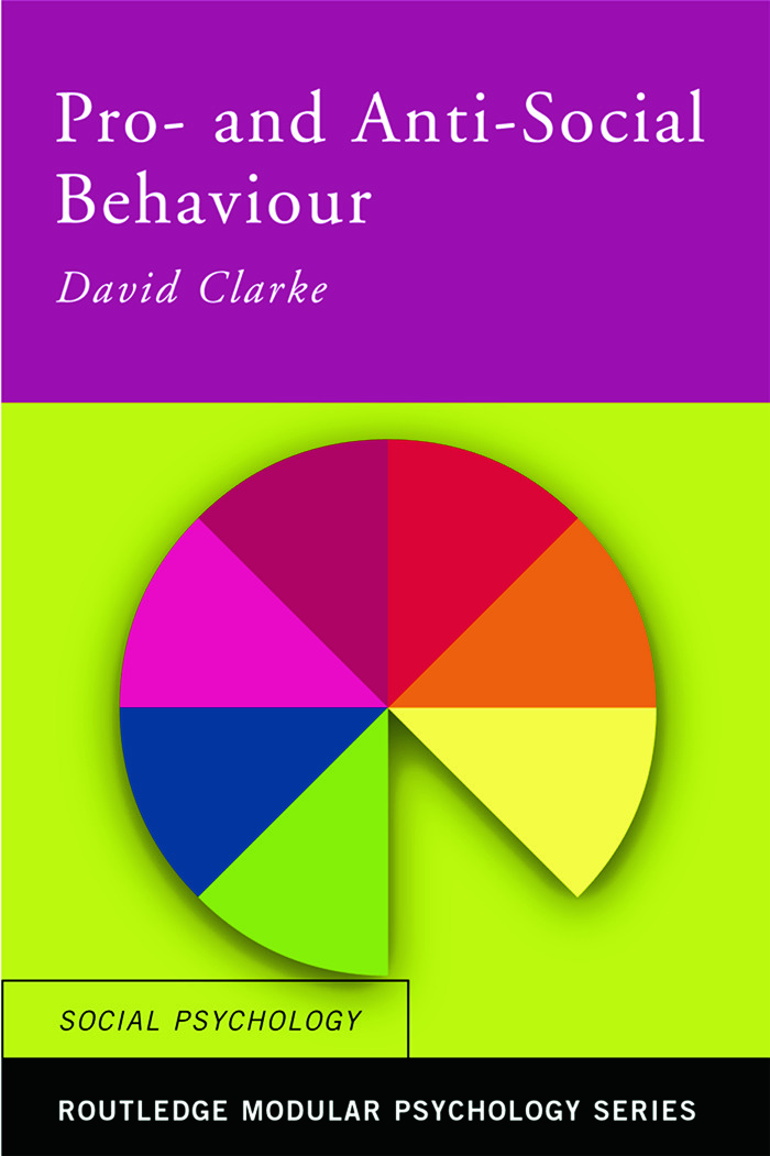 Pro-Social and Anti-Social Behaviour book cover