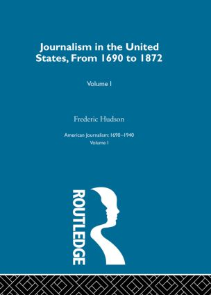 Journalism United States Pt1: 1st Edition (Hardback) book cover