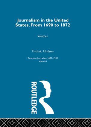 Journalism United States Pt1: 1st Edition (Hardback) book cover