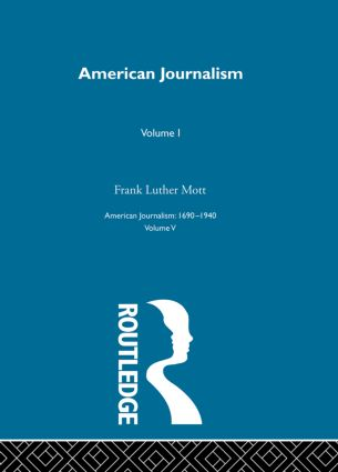 American Journalism Pt1: 1st Edition (Hardback) book cover